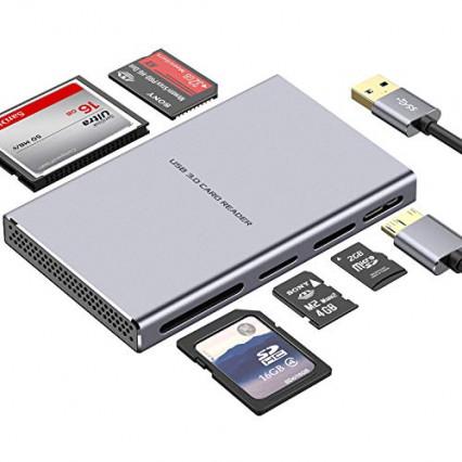 Le lecteur de carte mémoire externe en aluminium par Kameta