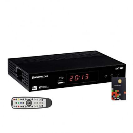 Le récepteur TV satellite HD Sagemcom et sa carte TNTSAT V6 Astra 19.2E