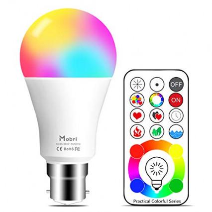 L'ampoule multicolore à détecteur de mouvement Mobri Lightaurora