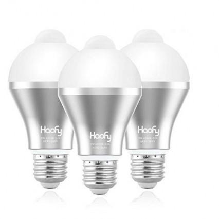 Les trois ampoules LED à détecteur de mouvement E26 et E27 par Haofy
