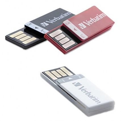Le trio de clés USB 2.0 clippables de 8 go chacune par Verbatim