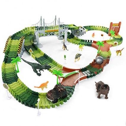 Le circuit électrique parmi les dinosaures par Fajiabao