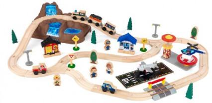La voie ferrée en bois par KidKraft