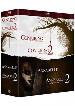 Le coffret horreur avec les deux films Conjuring et Annabelle
