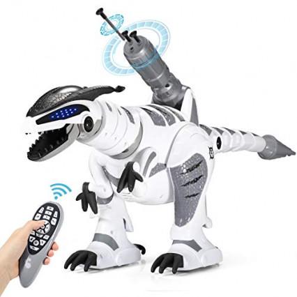 Le robot dinosaure Sgile RC avec lance-missiles sur le dos