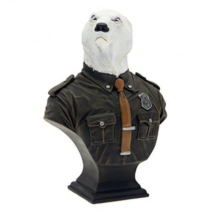 Le buste d'Hans Karup, un ours polaire antagoniste de Blacksad