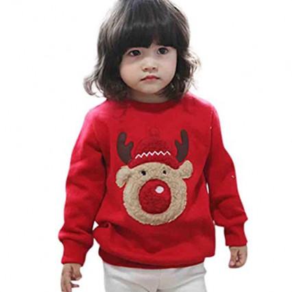 Un pull rouge pour les enfants