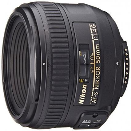 Un objectif Nikon à large ouverture