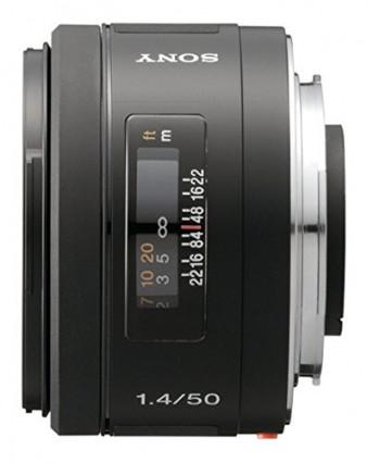L'objectif 50 mm grande ouverture pour monture Sony-Minolta
