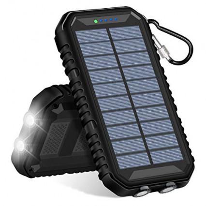 Batterie et chargeur solaire Hiluckey Hiuk 15 000 mAh, la double utilisation