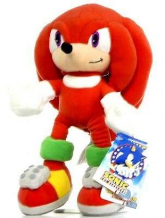 Une peluche de Knuckles, l'ami de Sonic
