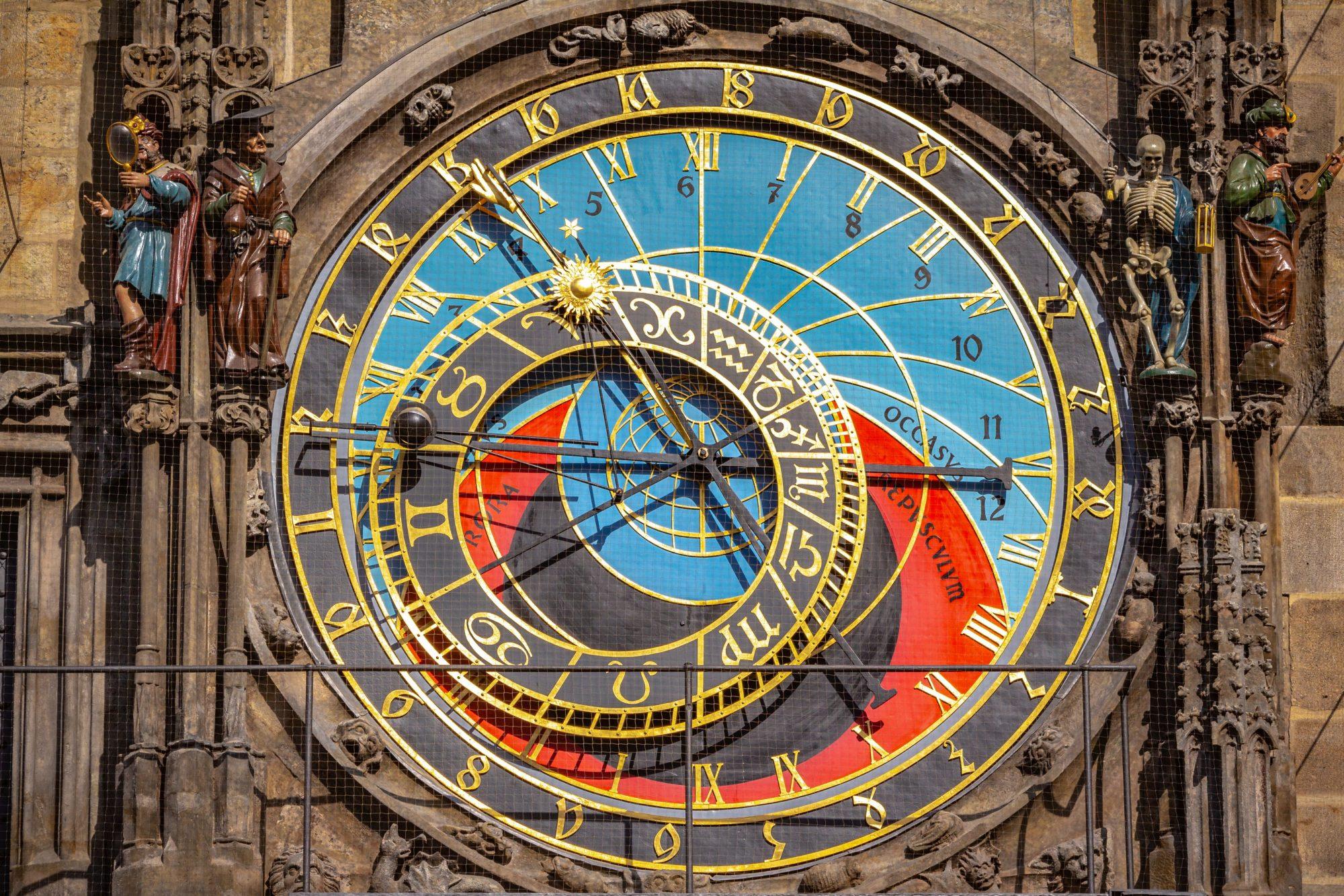 Astronomical dial of Astronomical Clock in Prague