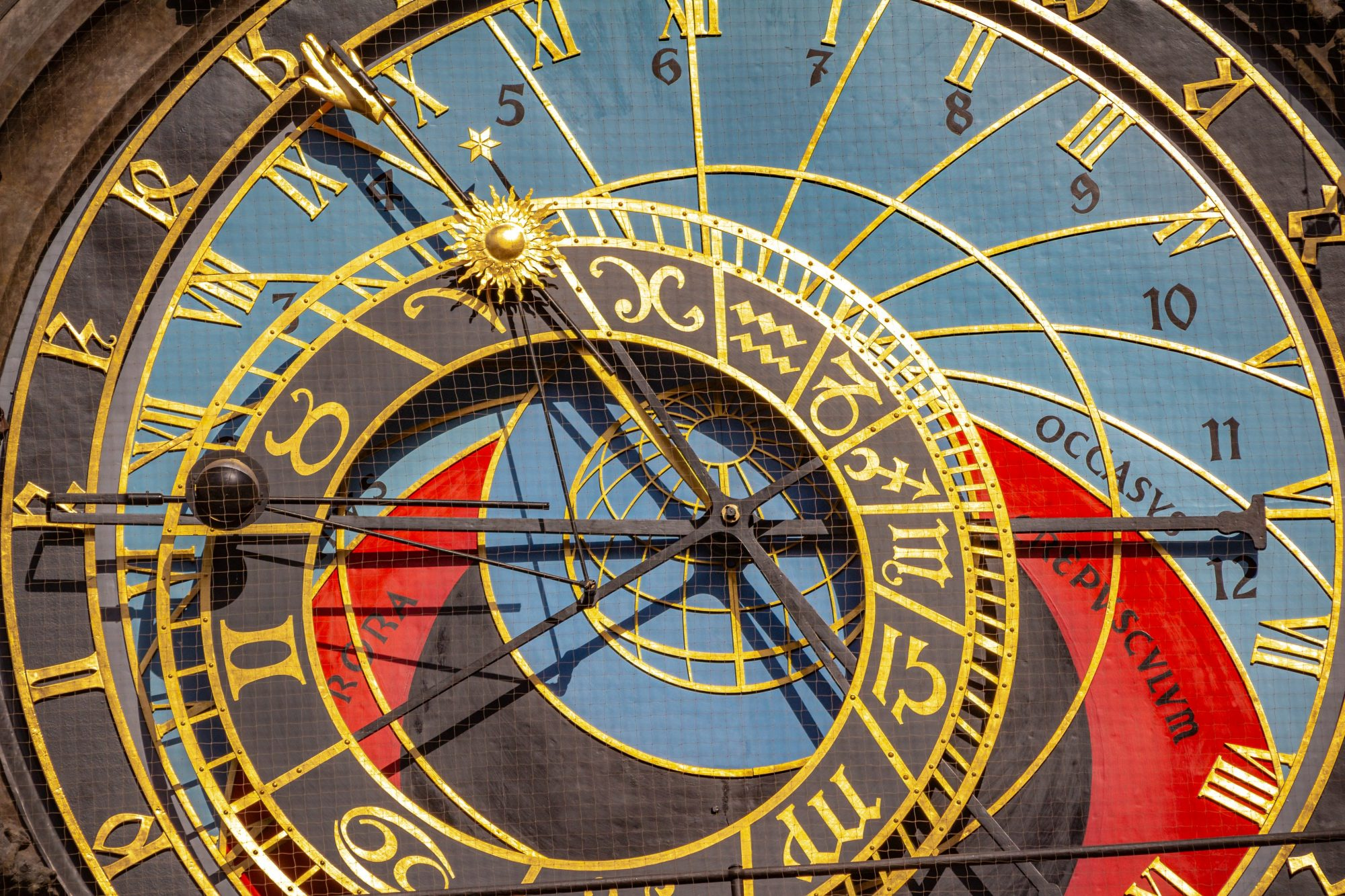 Detail of the zodiacal circle on Astronomical Clock