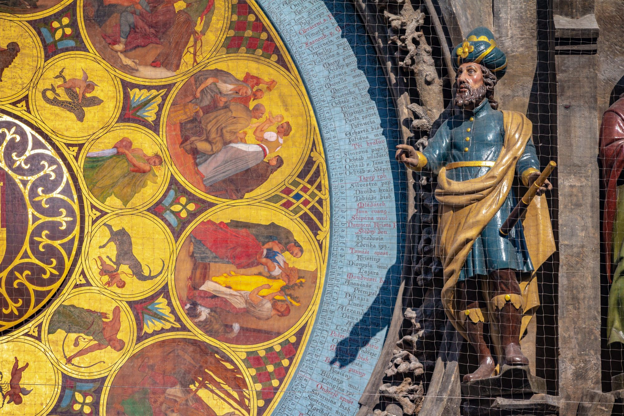 Detail of the Calendar dial on Astronomical Clock