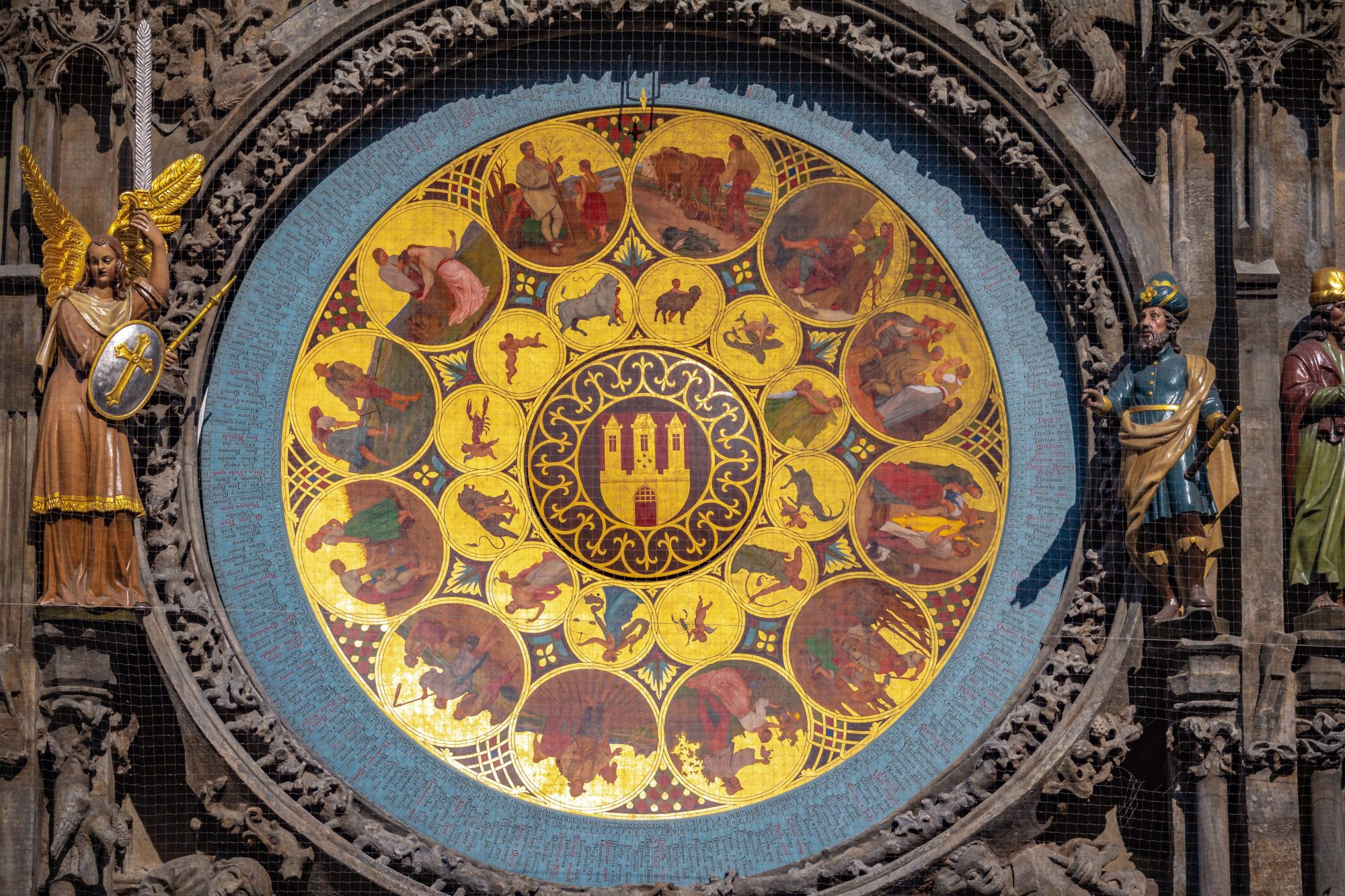 Photo of the Calendar dial on Astronomical Clock in Prague