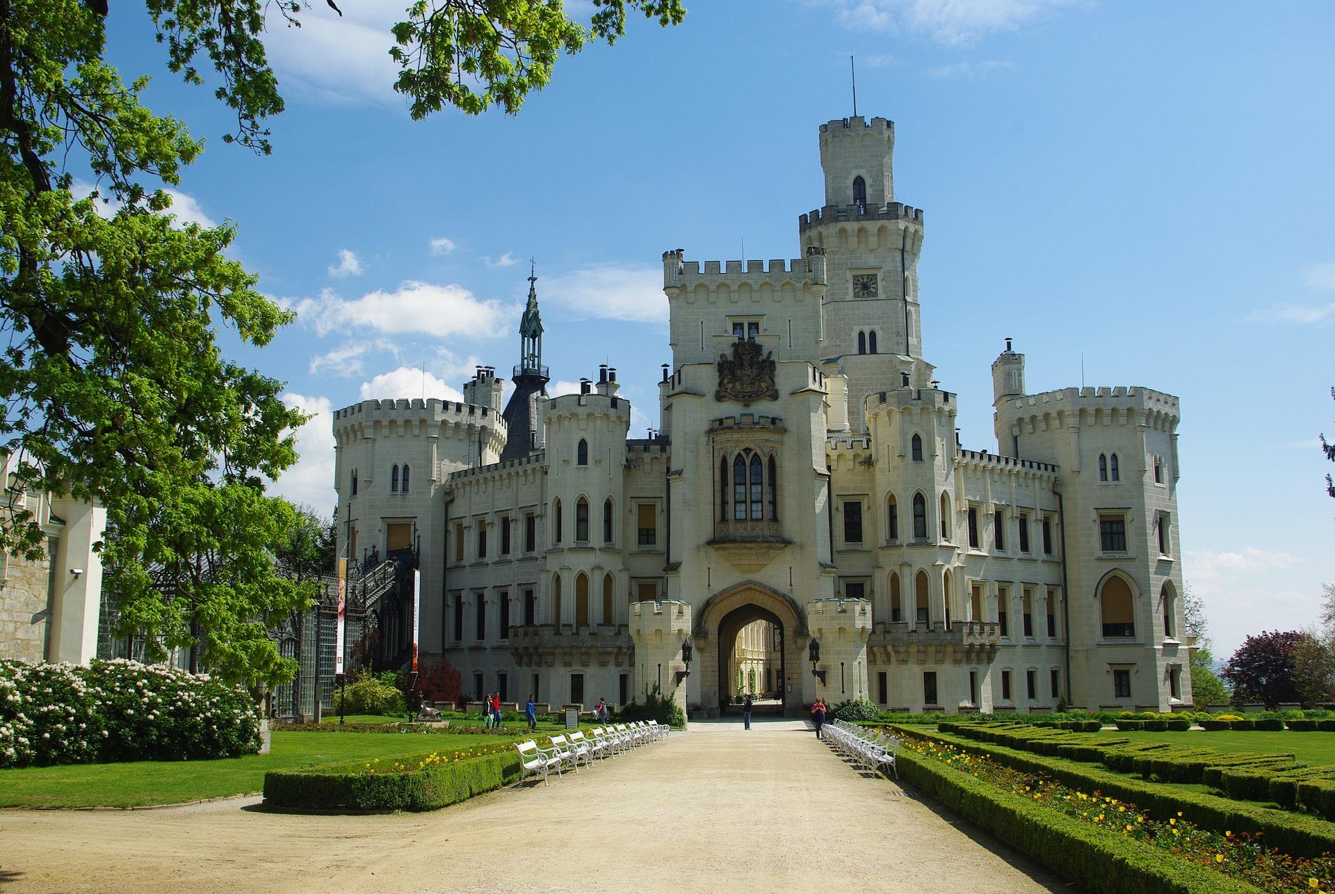 Hluboka nad Vltavou Castle near Cesky Krumlov