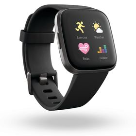 <美品/保証期間内>Fitbit VERSA 2 BLACK/CARBON