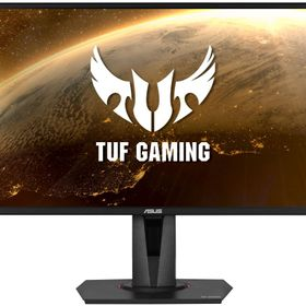 ASUS エイスース VG27AQ [TUF Gaming HDRゲーミングモニター 27型WQHD(2560x1440)/IPS/165Hz高速リフレッシュレート/Extreme Low Motion Blur Sync/G-SYNC Compatible/Adaptive-sync/FreeSync/1ms (MPRT)応答速度/HDR10]