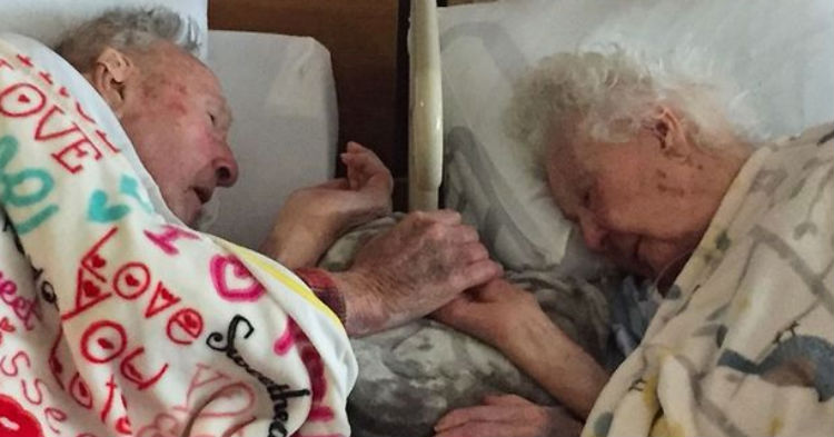 cupl 1 - After 77 Years Of Marriage, Loving Couple Holds Hands As They Drift Off To Heaven Together