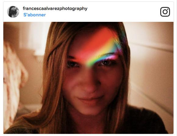 2 3 - Si tendance tu veux être, le Rainbow light filter tu utiliseras