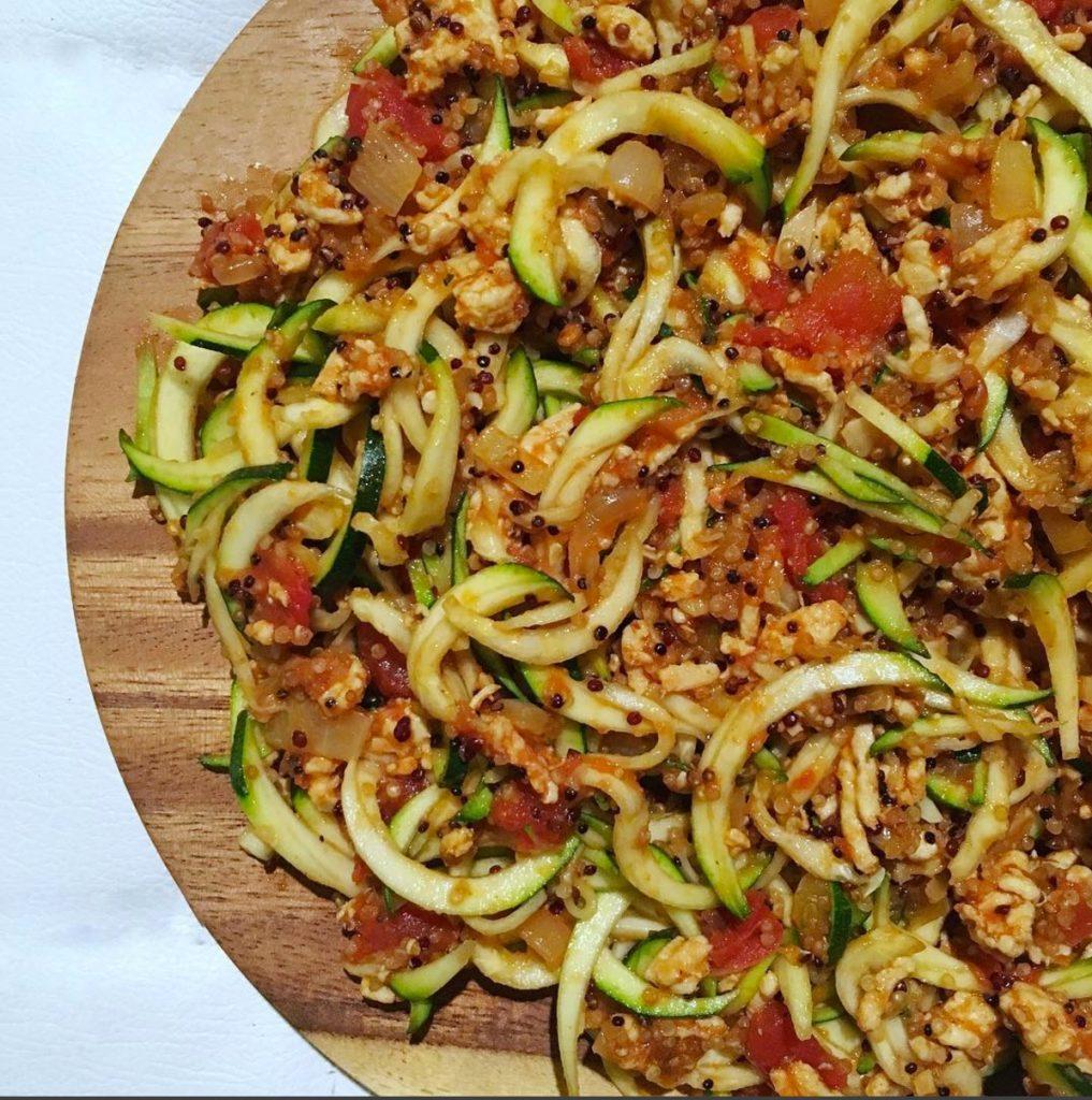 Quinoa, nouilles et dinde / Via Arielle Calderon sur Instagram