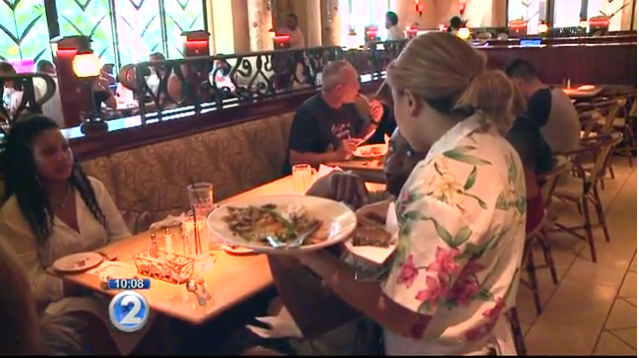 waitress gets blessed 2 - Waitress Served A Nice Couple, But When She Saw The Tip On The $200 Meal, She Runs After Them To Their Hotel