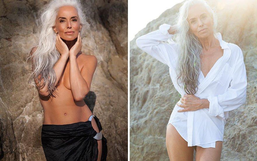 f7f34ead - Cette mannequin de 61 ans vous révèle ses secrets de beauté !