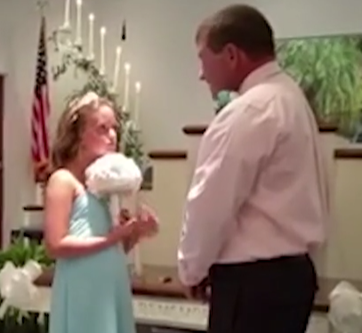 wedding daughter vow 3 - Groom Tells Bride To Step Aside At Their Wedding. Then, He Brings Another Girl To The Altar