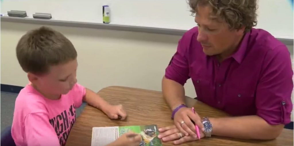 William et son enseignant, M.Winter /Via YouTube TODAY'S TMJ4