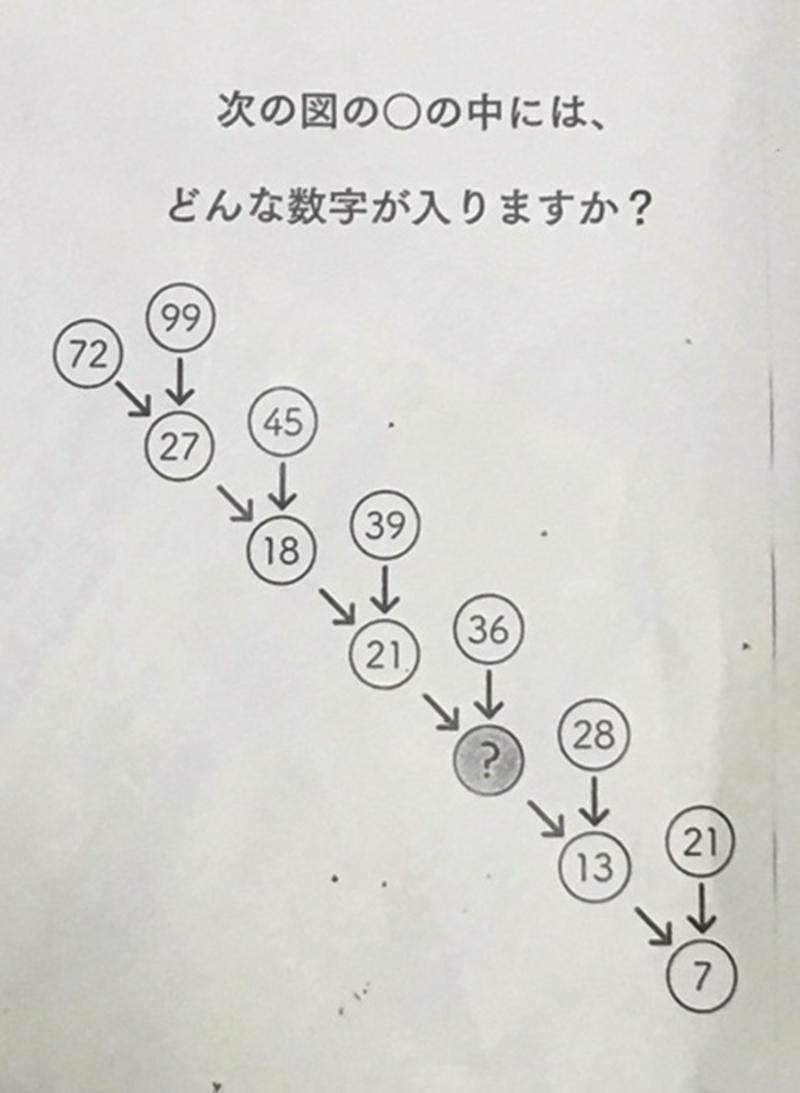 """621 2 - 大人も簡単に解けない?...話題になった日本小学校""""算数問題"""""""