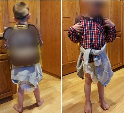 boy come back with diaper 4 - Mom Saw Her Son Getting Off From School Bus Without Pants. She Needed Explanation From School