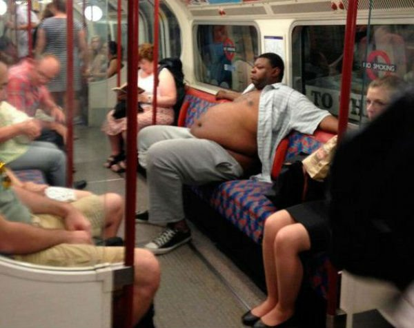 15bizzaretransport - 18 Photos Of The Most Unusual People On Public Transport