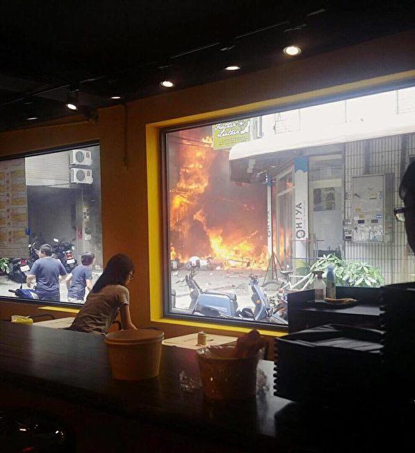 송찬양씨가 직접 찍은 화재 당시 모습. 출처 : himmsong/facebook