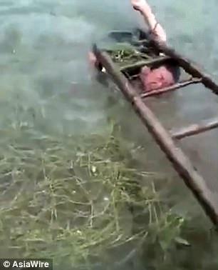 41e7190d00000578 0 image m 33 1498818919385 - 어린 아들 사다리에 묶어 놓고 '물고문'하는 아빠