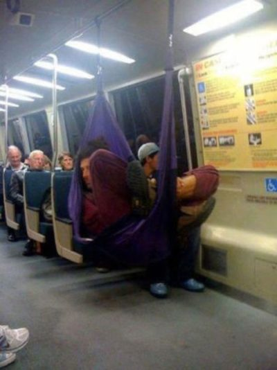 6bizzaretransport - 18 Photos Of The Most Unusual People On Public Transport