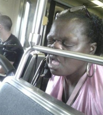 8bizzaretransport - 18 Photos Of The Most Unusual People On Public Transport