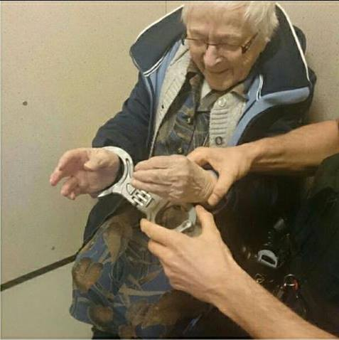 99 year old woman arrest 3 - Police Arrests Innocent Woman And The Look On Her Face Says It All