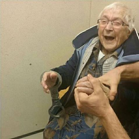 99 year old woman arrest 4 - Police Arrests Innocent Woman And The Look On Her Face Says It All
