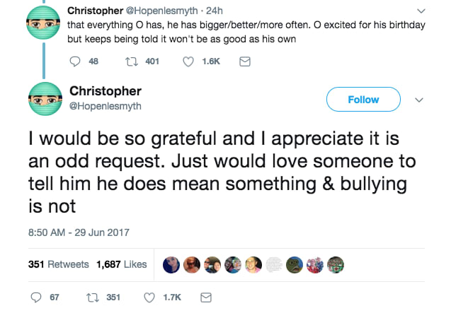 bullied kid celebs twitter 3 - Father Puts Out Desperate Plea For Bullied Son. Ellen, Today Show, Russell Crowe & More Respond!