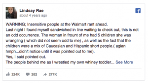 couple mocks struggling mom at walmart what this woman does next leaves them speechless 21739 3 300x169 - Woman Hears Young Mom With Kids Being Ridiculed By A Couple. Her Response Is Spot On