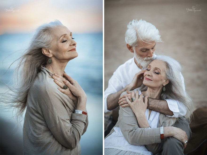 russian photographer makes wonderful photos with an elderly couple showing that love transcends time 5971c6bc8f58e  880 - 평생을 함께해도 서로를 보는 눈에서 꿀 떨어지는 노부부의 사진 '진한 감동' (10장)