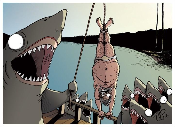 satirical animal rights illustrations parallel universe 16 571a250517577  700 - 동물과 인간의 입장을 한번 바꿔보았다 (일러스트)