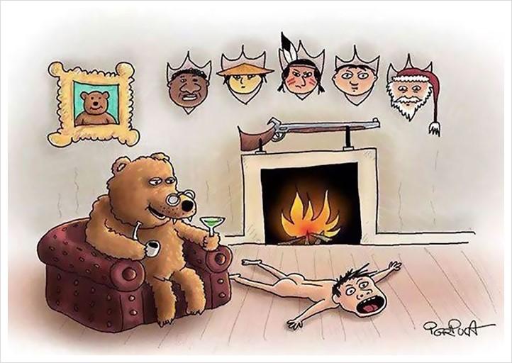 satirical animal rights illustrations parallel universe 32 571a2527d2550  700 - 동물과 인간의 입장을 한번 바꿔보았다 (일러스트)