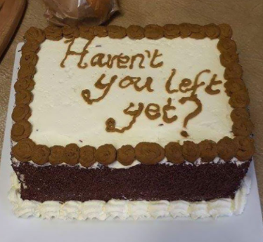 13 farewellcakes - 15 Hilarious Farewell Cakes That Go Too Far