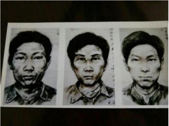 경찰이 추적 당시 용의자 몽타주/gansudaily.com.cn
