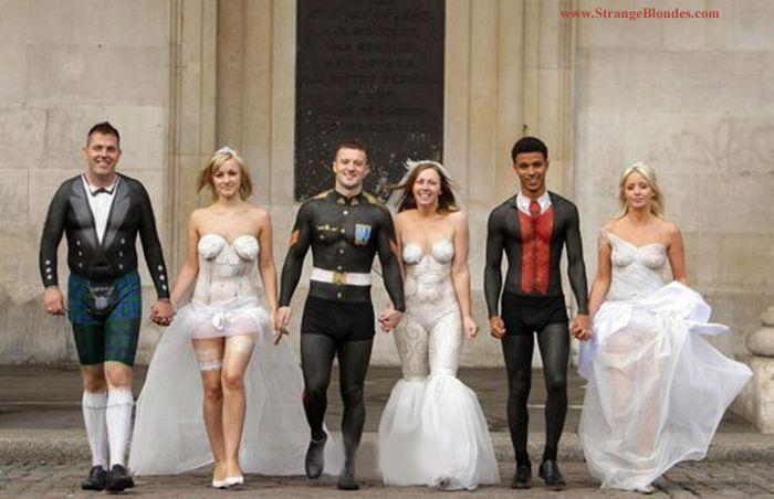 18weirdweddingdress - 無言薯條!19 件讓你看了「寧願不要結」的婚紗 #5 這畫面太美我不敢看