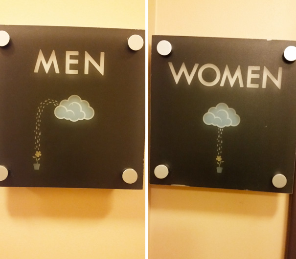 1a funnybathroomsigns - 16 Hilarious and Clever Bathroom Signs