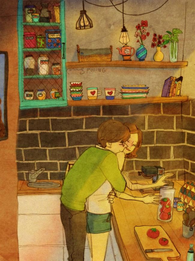 23005 sweet couple love illustrations art puuung 23  700 650 a542d8629a 1484149902 - 소소한 일상 속에서 발견하는 '사랑'에 관한 일러스트 작품 (사진 23장)