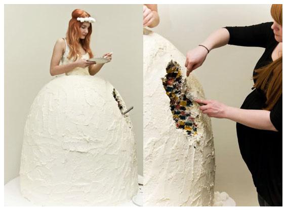 5weirdweddingdress - 無言薯條!19 件讓你看了「寧願不要結」的婚紗 #5 這畫面太美我不敢看