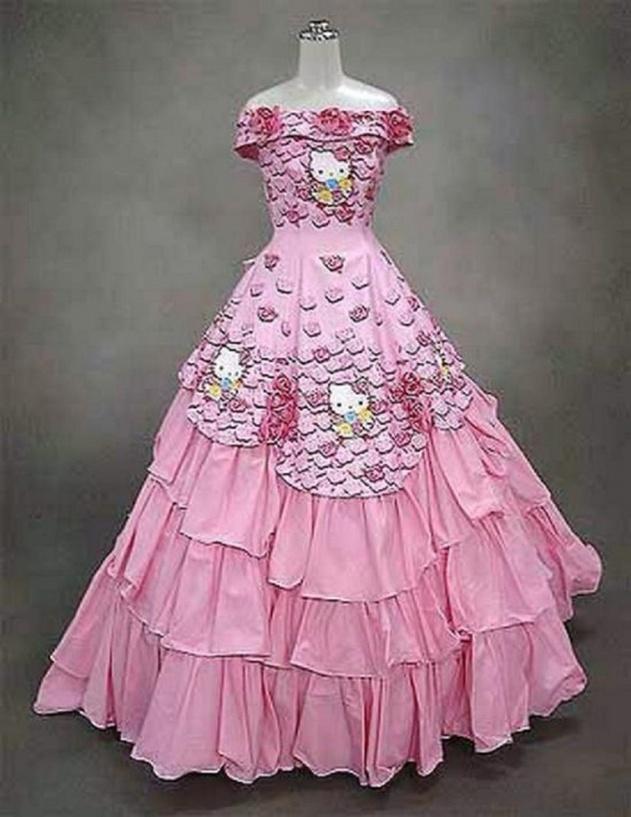 6weirdweddingdress - 無言薯條!19 件讓你看了「寧願不要結」的婚紗 #5 這畫面太美我不敢看
